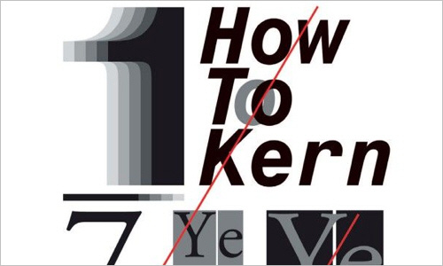 Perfect your kerning skills