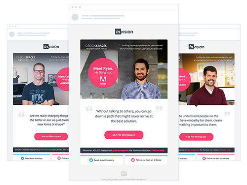 Mobile-friendly email design from InVision