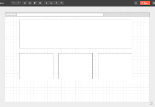 Many prototyping tools encourage common grid layout structures.