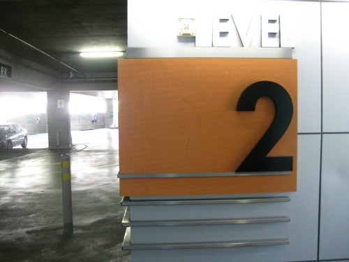 Wayfinding and Typographic Signs - parking-level-signage