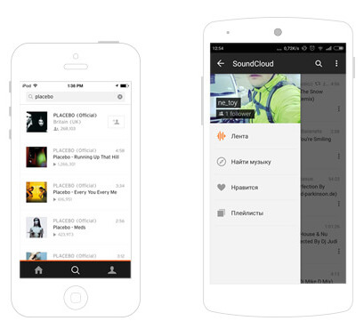 SoundCloud for iOS and Android