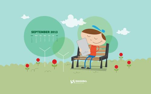 Desktop Wallpaper Calendar: September 2013