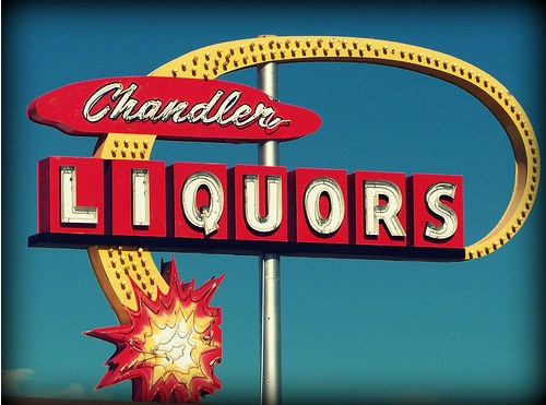 Vintage Signage - Lights for Liquor
