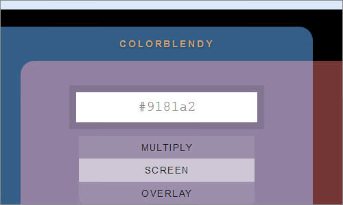 ColorBlendy - Blend colors with different modes like multiply, overlay, dodge.