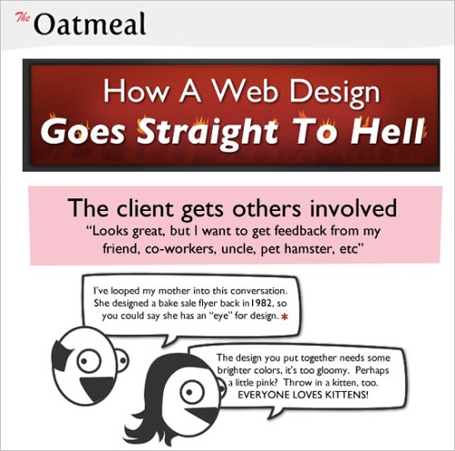 How a Web Design Goes Straight to Hell by The Oatmeal