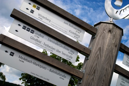 Wayfinding and Typographic Signs - trail-sign