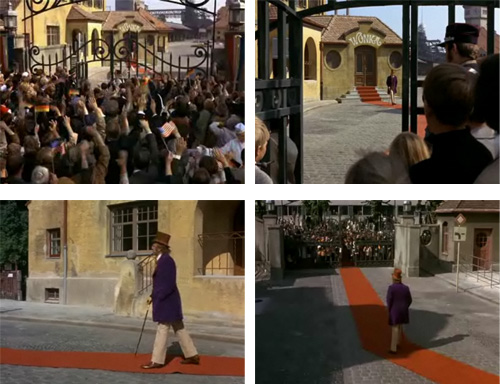 Frames from Willy Wonka and the Chocolate Factory