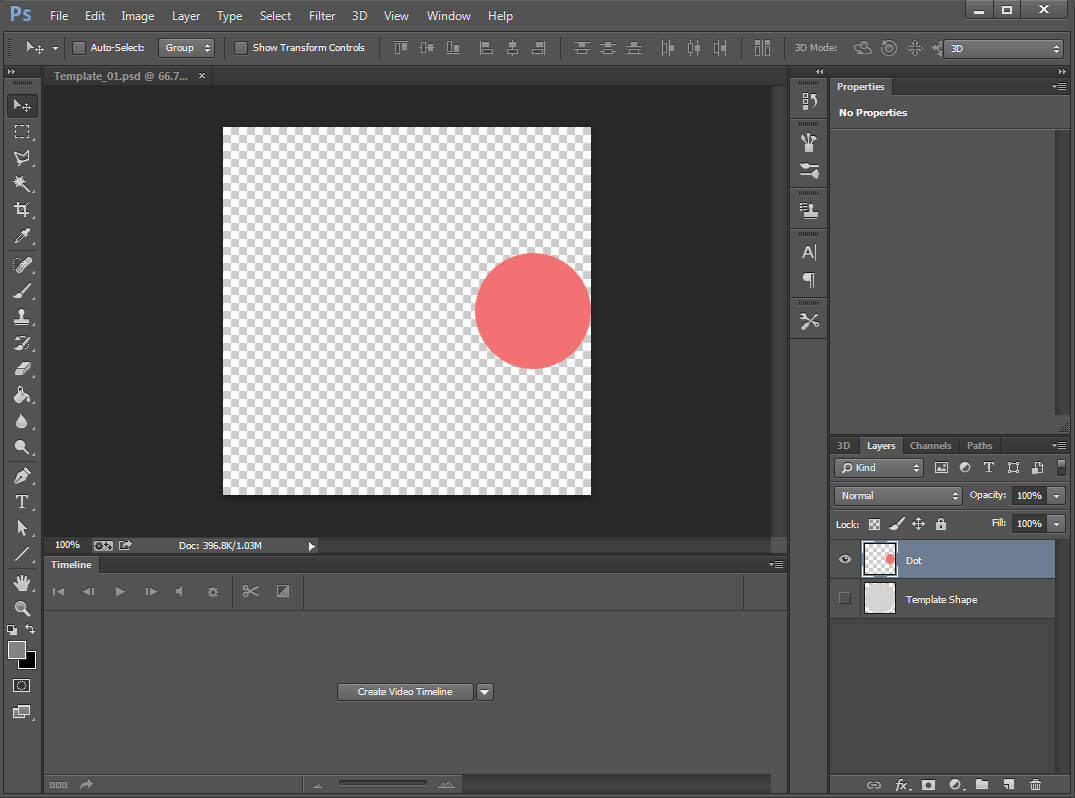 How to create an advanced photoshop animation smashing magazine hide the template shape layer baditri Gallery