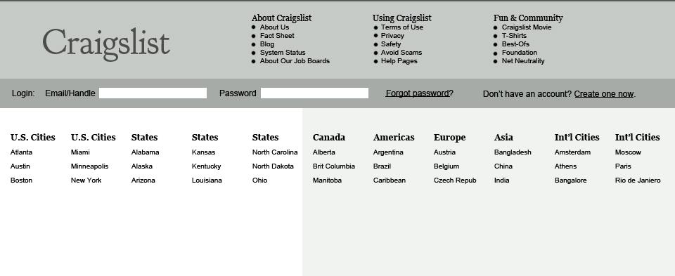 Redesigning Craigslist With Focus On Usability — Smashing