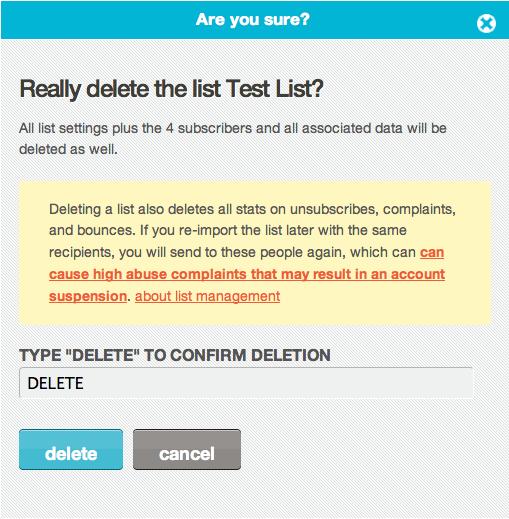 Mailchimp Delete Pattern