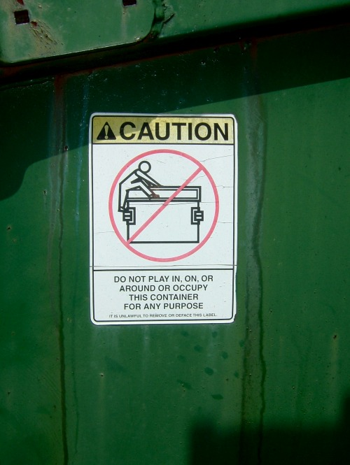 Wayfinding and Typographic Signs - dumpster-diving