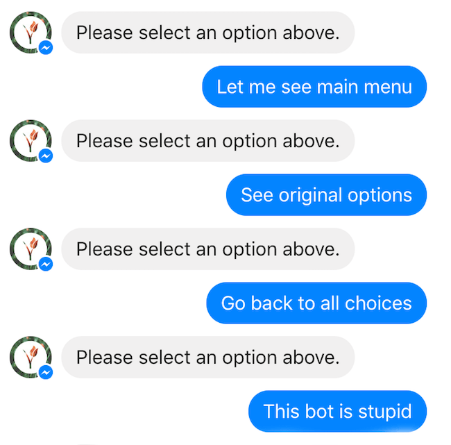 Chatbot UX