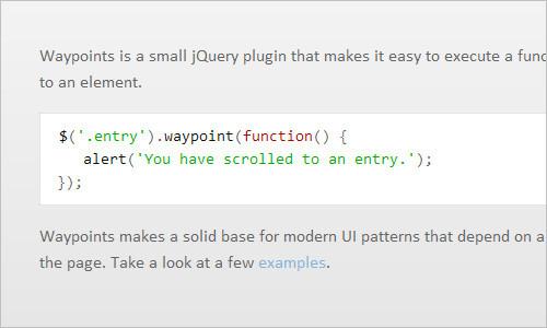 jQuery Waypoints