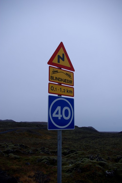 Wayfinding and Typographic Signs - icelandic-traffic-signs-in-outback