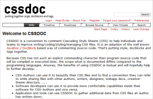 CSSDOC website