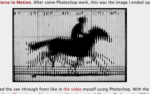 A parallax optical illusion with CSS: The Horse in Motion