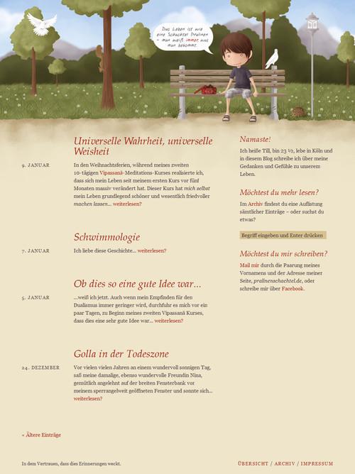 German Web Design - das leben ist wie eine schachtel pralinen