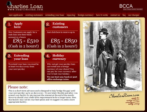 Retro and Vintage Designs - Charlies Loan Payday Loans Short term cash loans fast