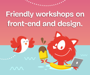 Boost your skills online, with our friendly online workshops on front-end and design.