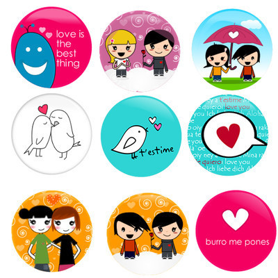 Pins, Badges and Buttons - Love