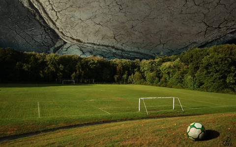 Beautiful Nature Wallpapers - Planet Football by ~meatcar