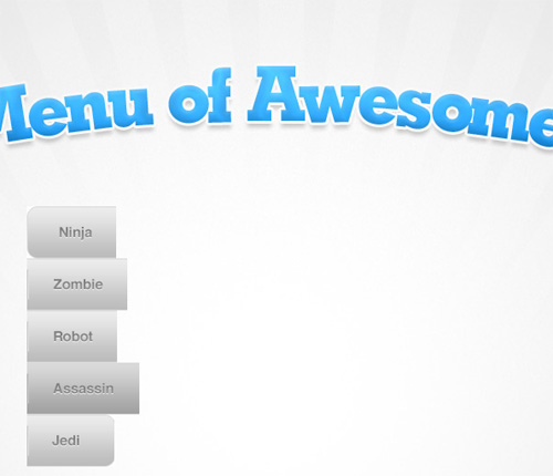 Menu of Awesomeness without Float