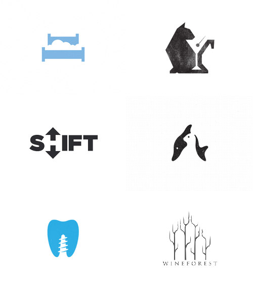 Various logos that make good use of white space.