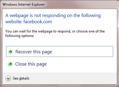 IE8 not responding message