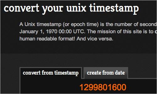 Convert Unix Time - convert and create your unix timestamp