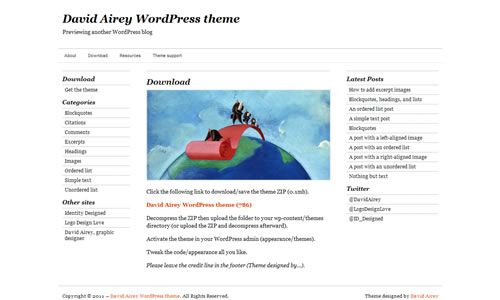David Airey Free WP Theme