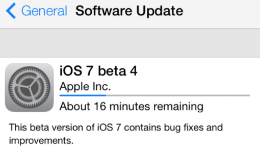Software update estimation in Apple iOS