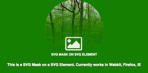 An SVG mask on an SVG element