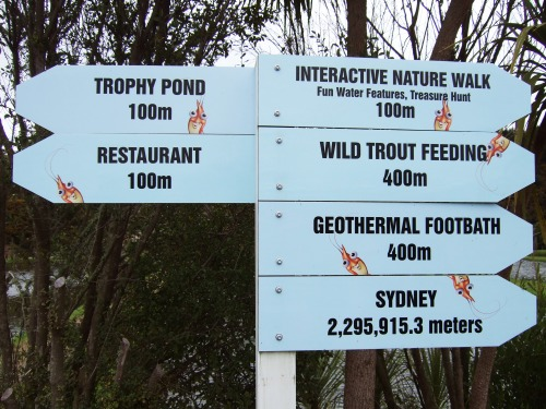 Wayfinding and Typographic Signs - wacky-huka-prawn-park-signboard