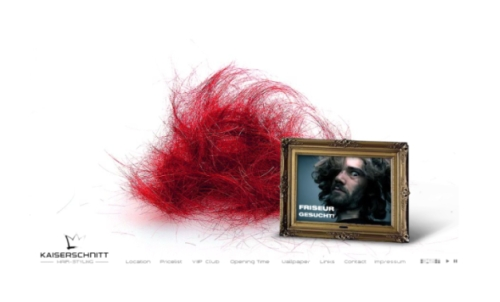 Kaiserschnitt Hair-Styling in Showcase of Web Design in Germany