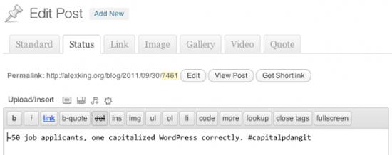 WordPress Post Formats Admin UI