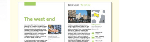 Screenshot of an article about the West End of London