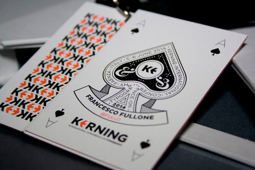 Organizers' badge: typographical Ace of Spades