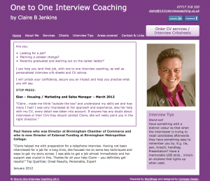 121interviewcoaching - desktop site