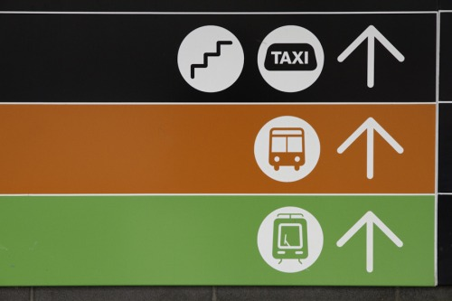 Wayfinding and Typographic Signs - melbourne-pedestrian-underpass