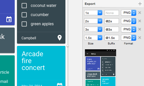 "Always work at 1× pixels. You can easily scale up or down in the ""Export"" panel."