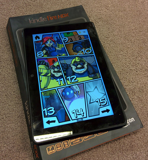 Numolition running on a Kindle Fire.