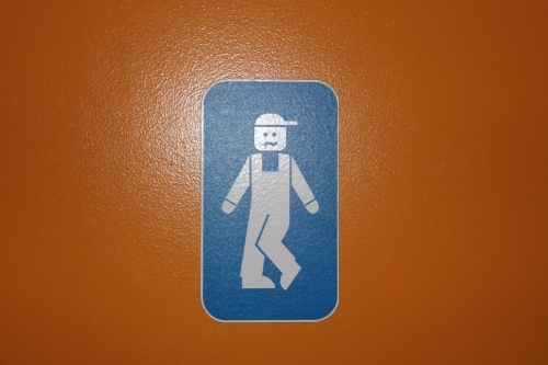 Wayfinding and Typographic Signs - lego-boys-room