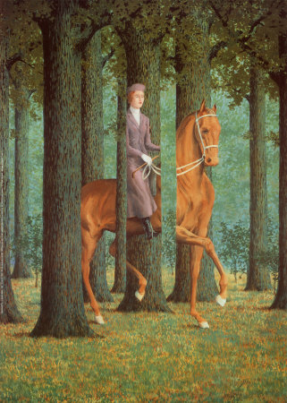 <em>René Magritte's work is known for clever twists of visual logic.</em>