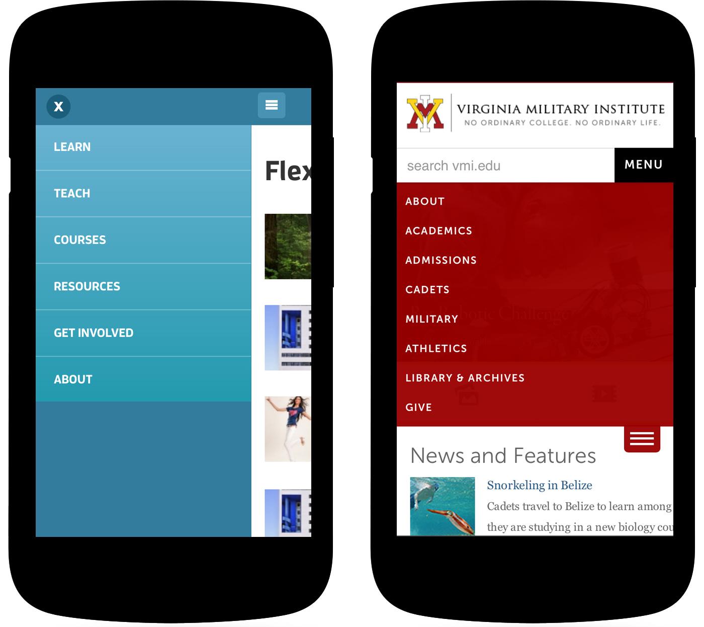 Wayfinding for the mobile web smashing magazine for Mobel website