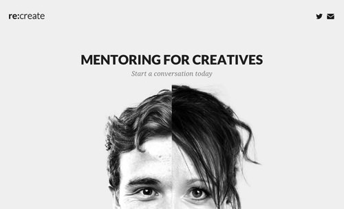 Mentor and mentee at re-create.com