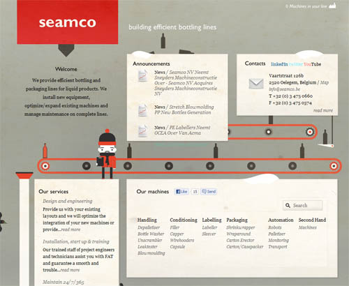 Seamco's bottling line efficiency animation