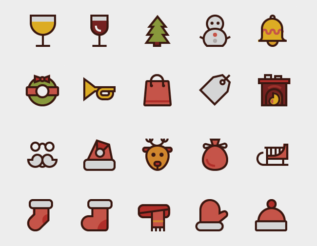 Christmas Winter Icons