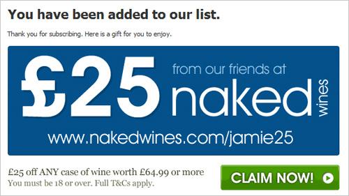 Jamie Oliver reward page