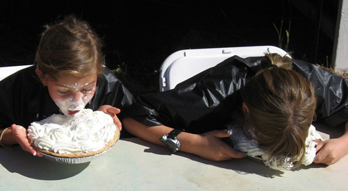 Two Girls in a Pie Eating Contest