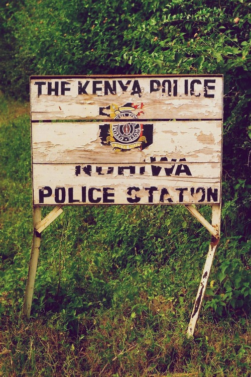 Wayfinding and Typographic Signs - police-station-sign